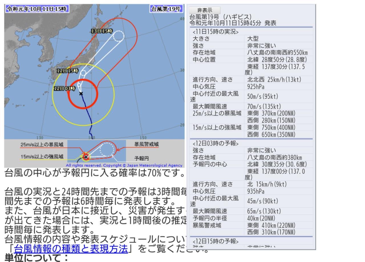 台風 が それ る