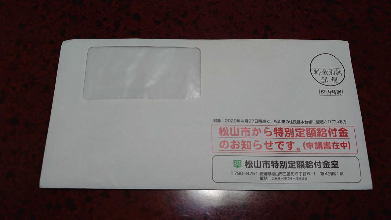 松山 市 特別 定額 給付 金